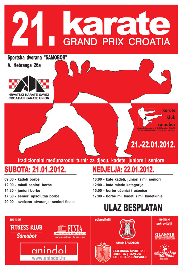 KARATE - 21. Karate Grand Prix Croatia